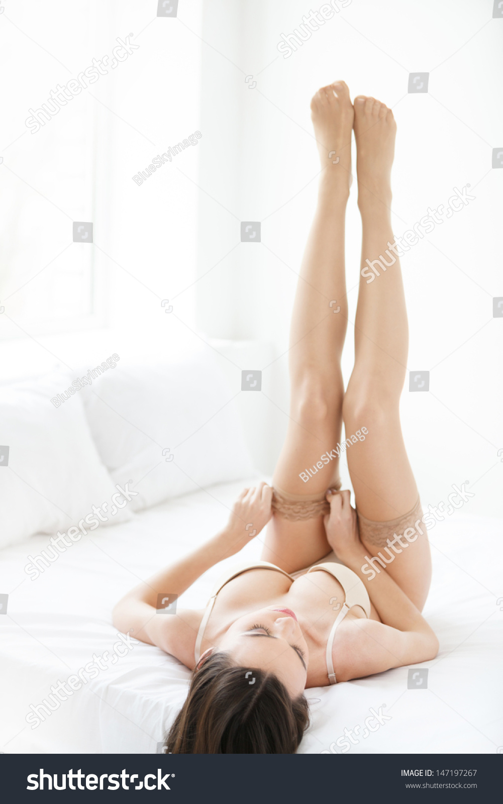 image I wear stockings while sucking and fucking the creampie out of you