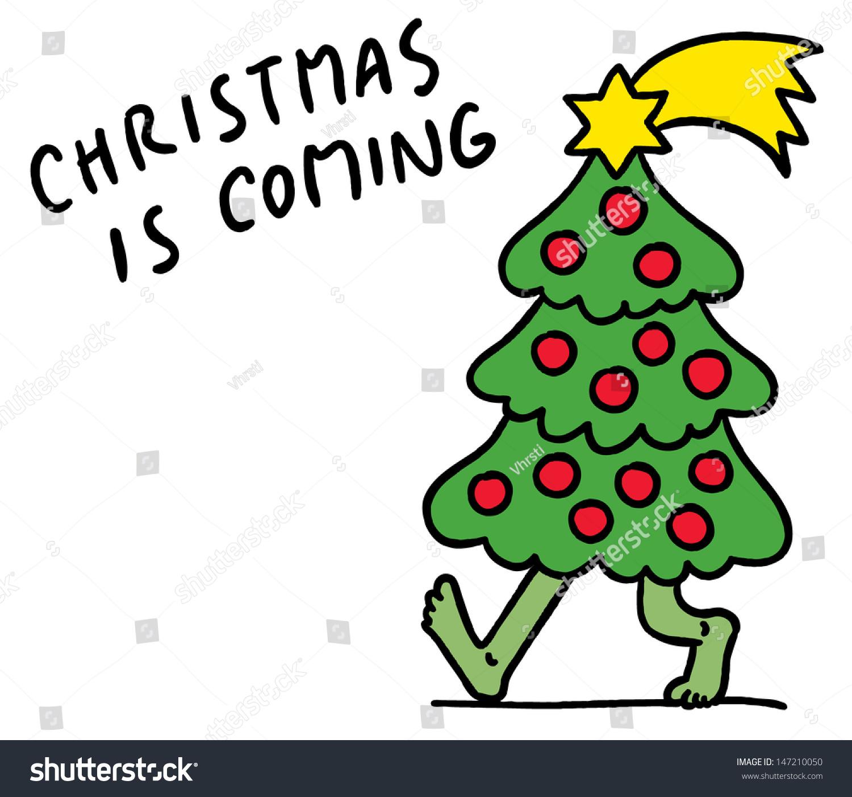 Exceptional Walking Christmas Tree Part - 1: Funny Cartoon Of Christmas Tree Walking