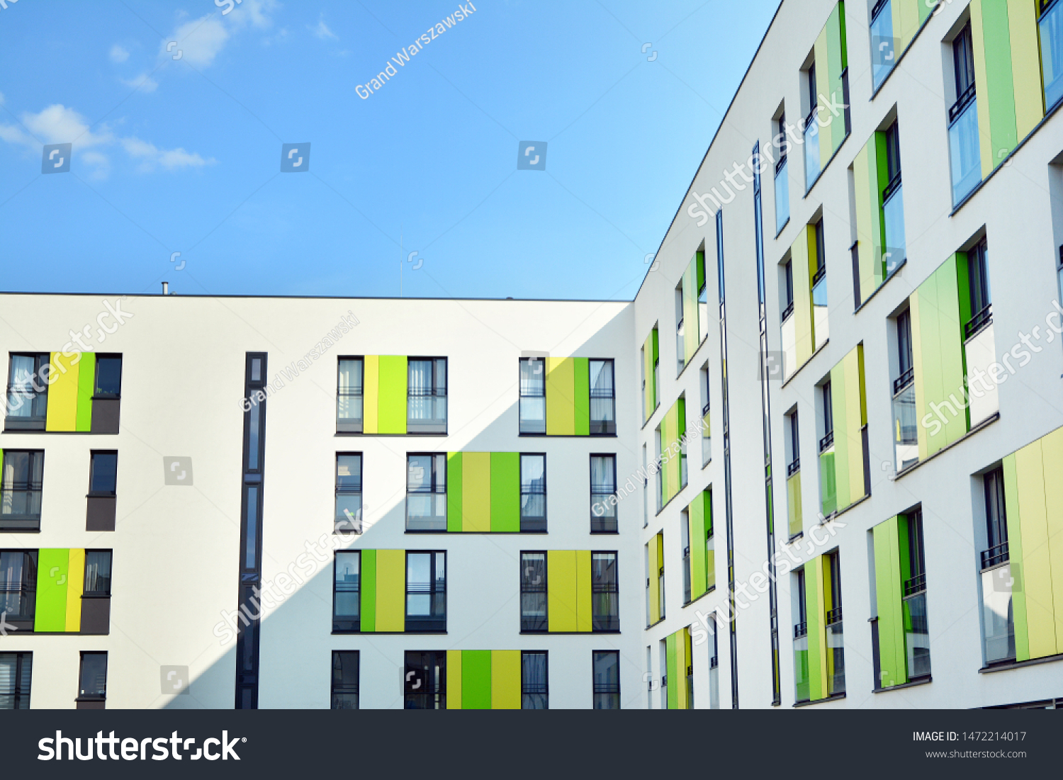 Contemporary Residential Building Exterior Daylight Modern Stock Photo Edit Now 1472214017