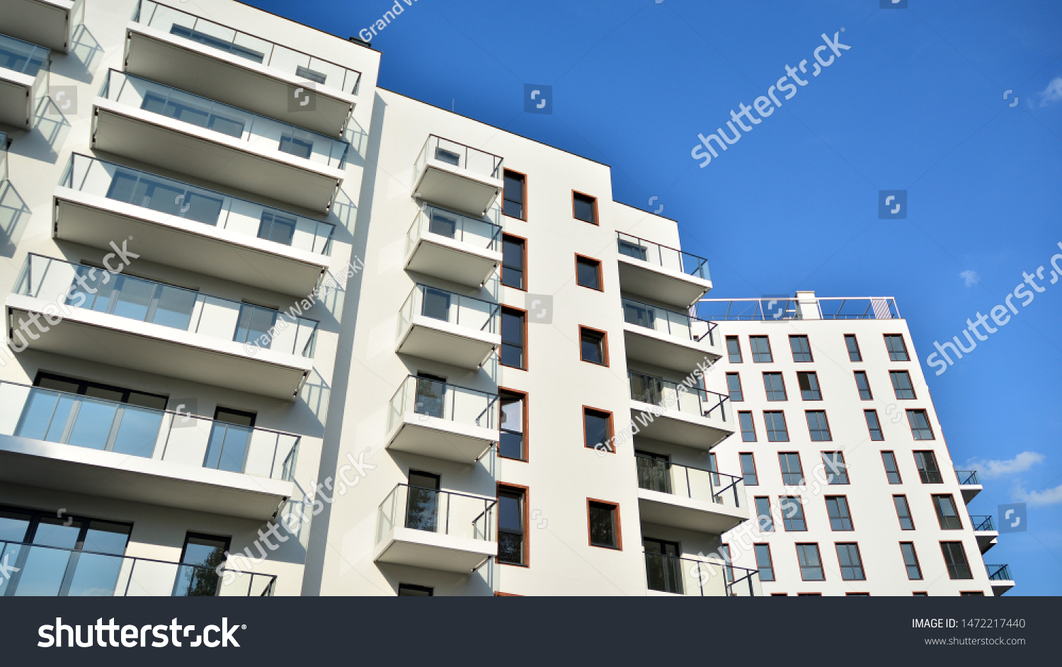 Contemporary Residential Building Exterior Daylight Modern Stock Photo Edit Now 1472217440
