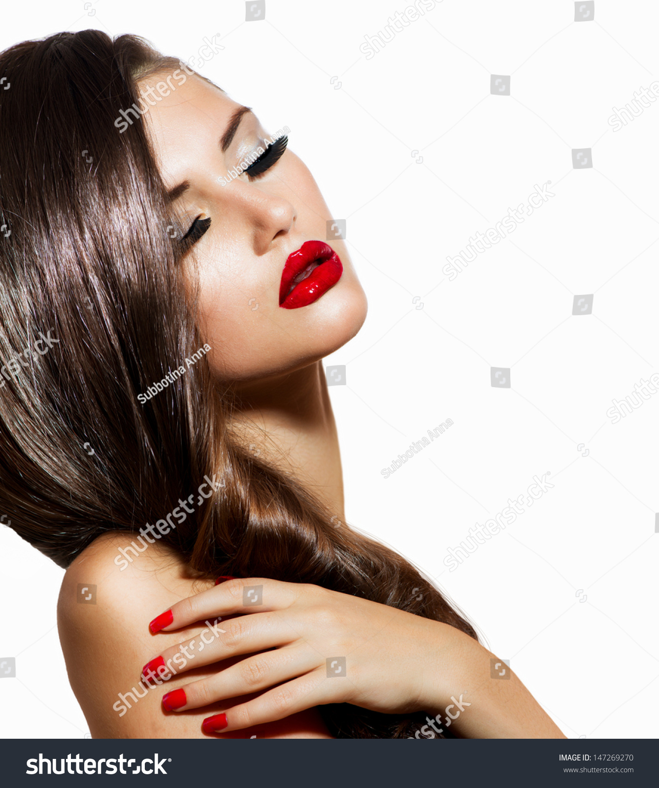 Sexy beauty girl red lips nails stock photo 147269270 for Luxury women
