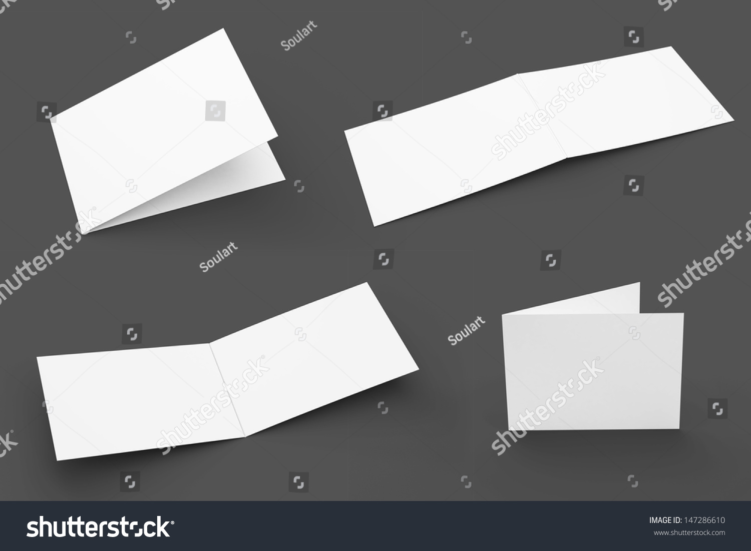Blank Greeting Cards Set Isolated On Stock Illustration 147286610