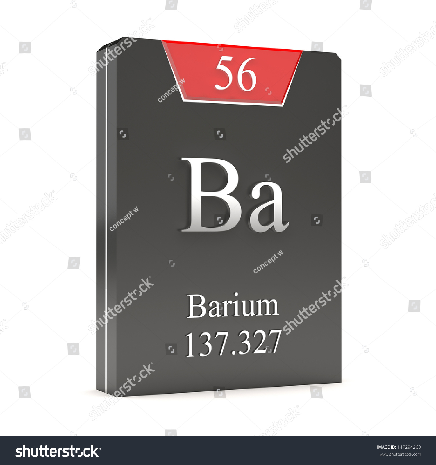 Barium Ba 56 Periodic Table Stock Illustration 147294260 Shutterstock