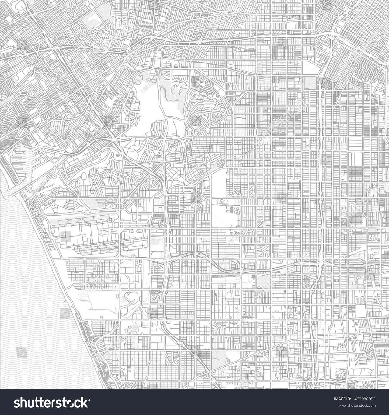Inglewood California Usa Bright Outlined Vector Stock Vector ...