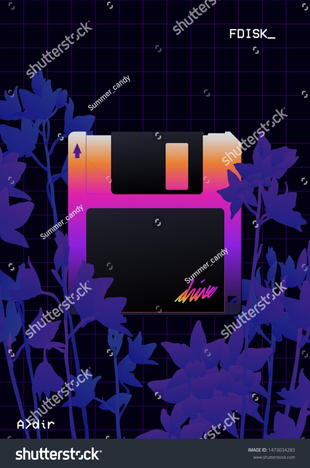 aesthetic retrowave floppy disk icon ultraviolet stock vector royalty free 1473034283 https www shutterstock com image vector aesthetic retrowave floppy disk icon ultraviolet 1473034283