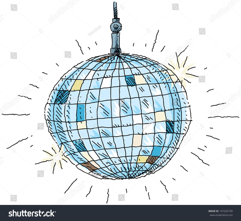 cartoon disco ball stock illustration 147325730 shutterstock disco ball vector art disco light ball vector