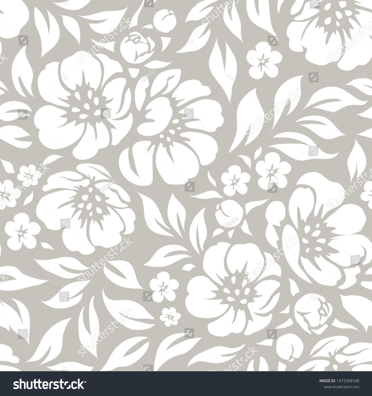 Seamless Vector Floral Wallpaper Decorative Vintage Stock Vector
