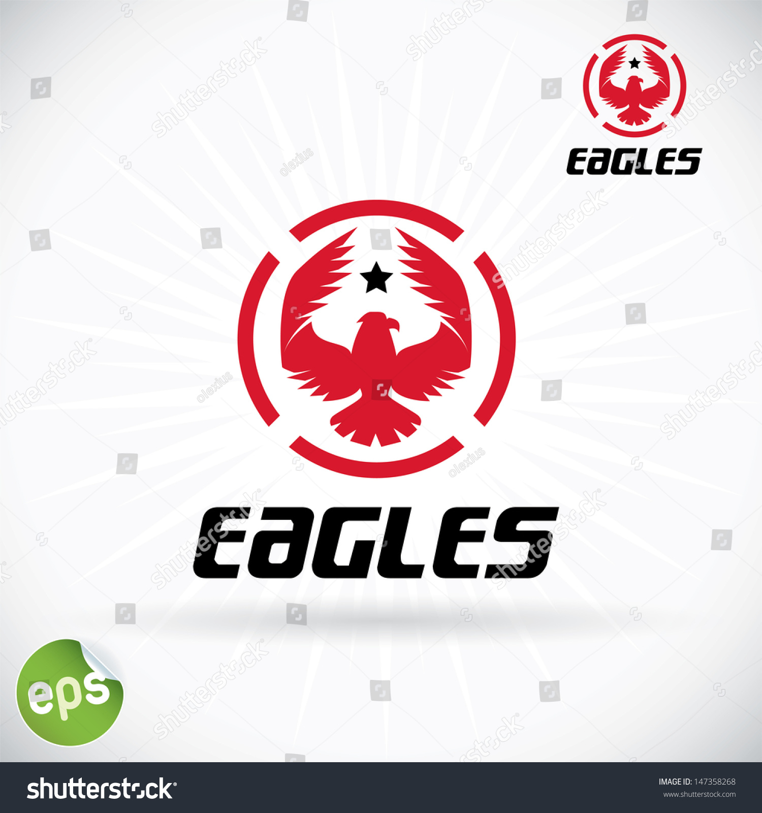 Eagle Symbol Illustration Sign Button Badge Stock Vector Royalty
