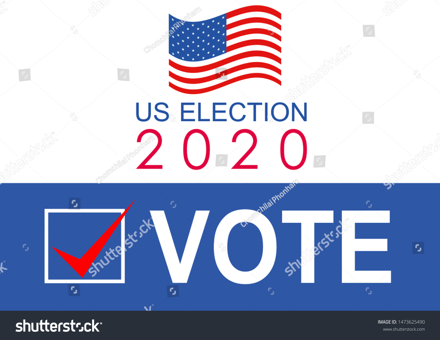 United States Presidential Election 2020 Vector Stock Vector Royalty Free 1473625490
