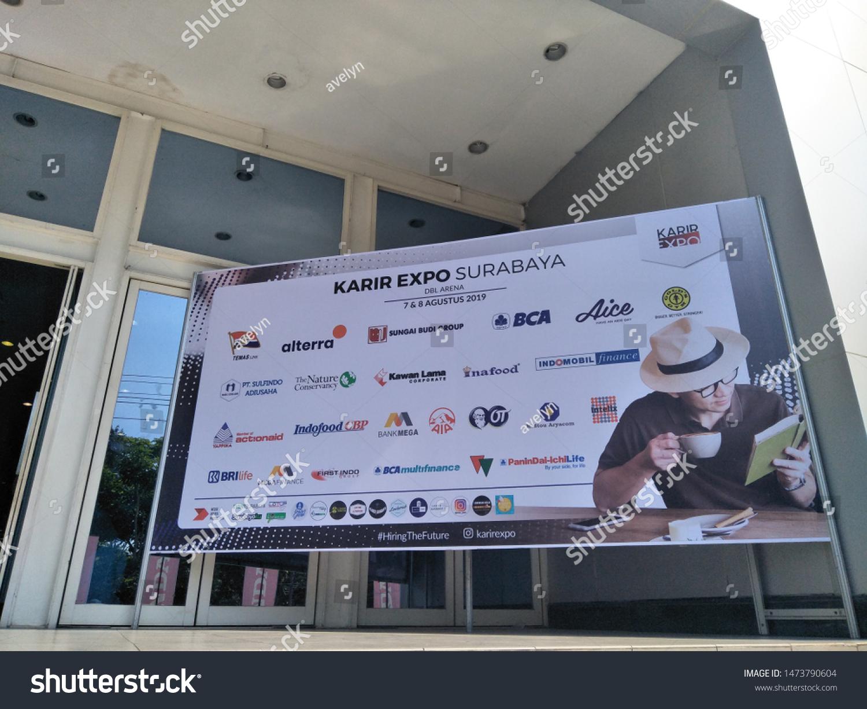 stock photo surabaya indonesia august career expo job fair at dbl arena graha pena fresh graduate 1473790604