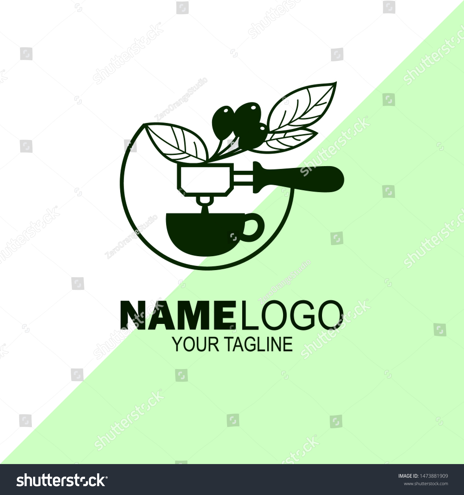 silhouette logos coffee trees portafilter cups stock vector royalty free 1473881909 https www shutterstock com image vector silhouette logos coffee trees portafilter cups 1473881909