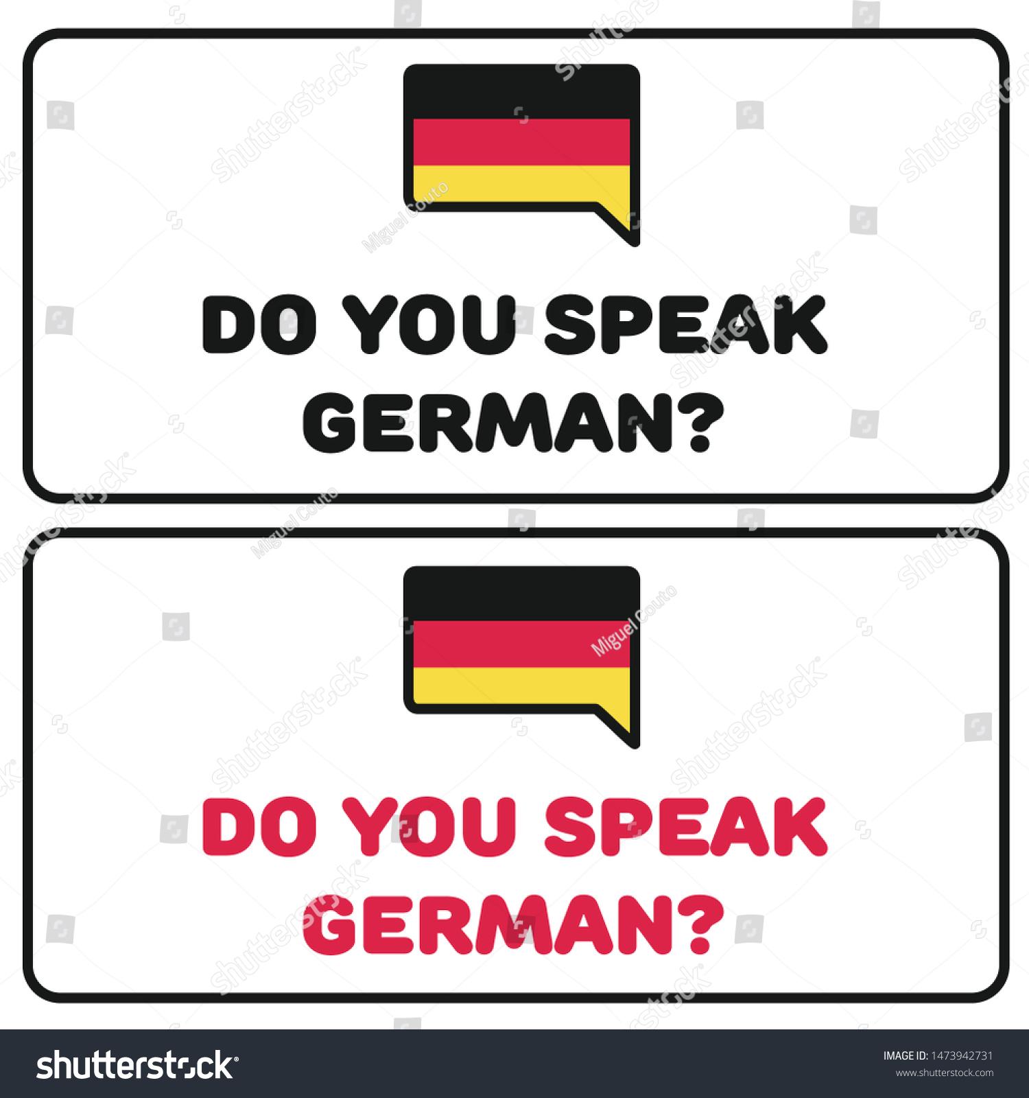 Do You Speak English Language Idioms Stock Vector Royalty Free 1473942731