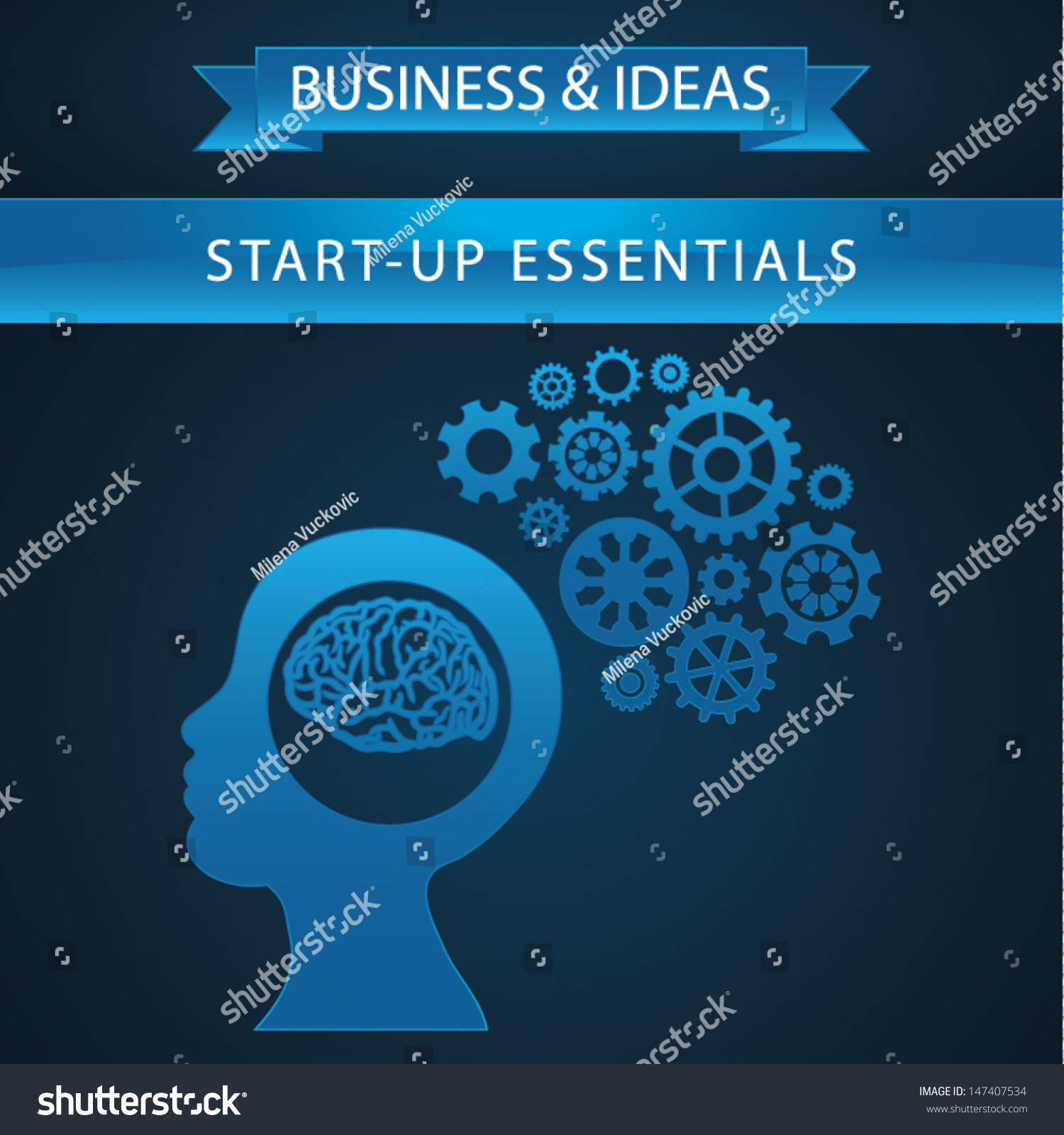 Schematic Info Graphic Working Business Mind Stock Vector (Royalty ...