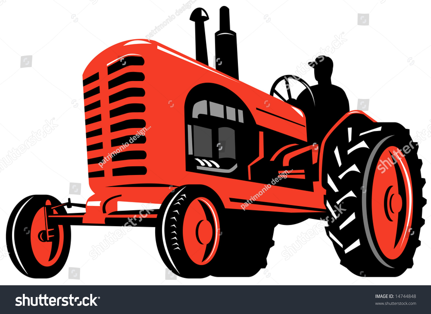 vintage tractor clipart - photo #24