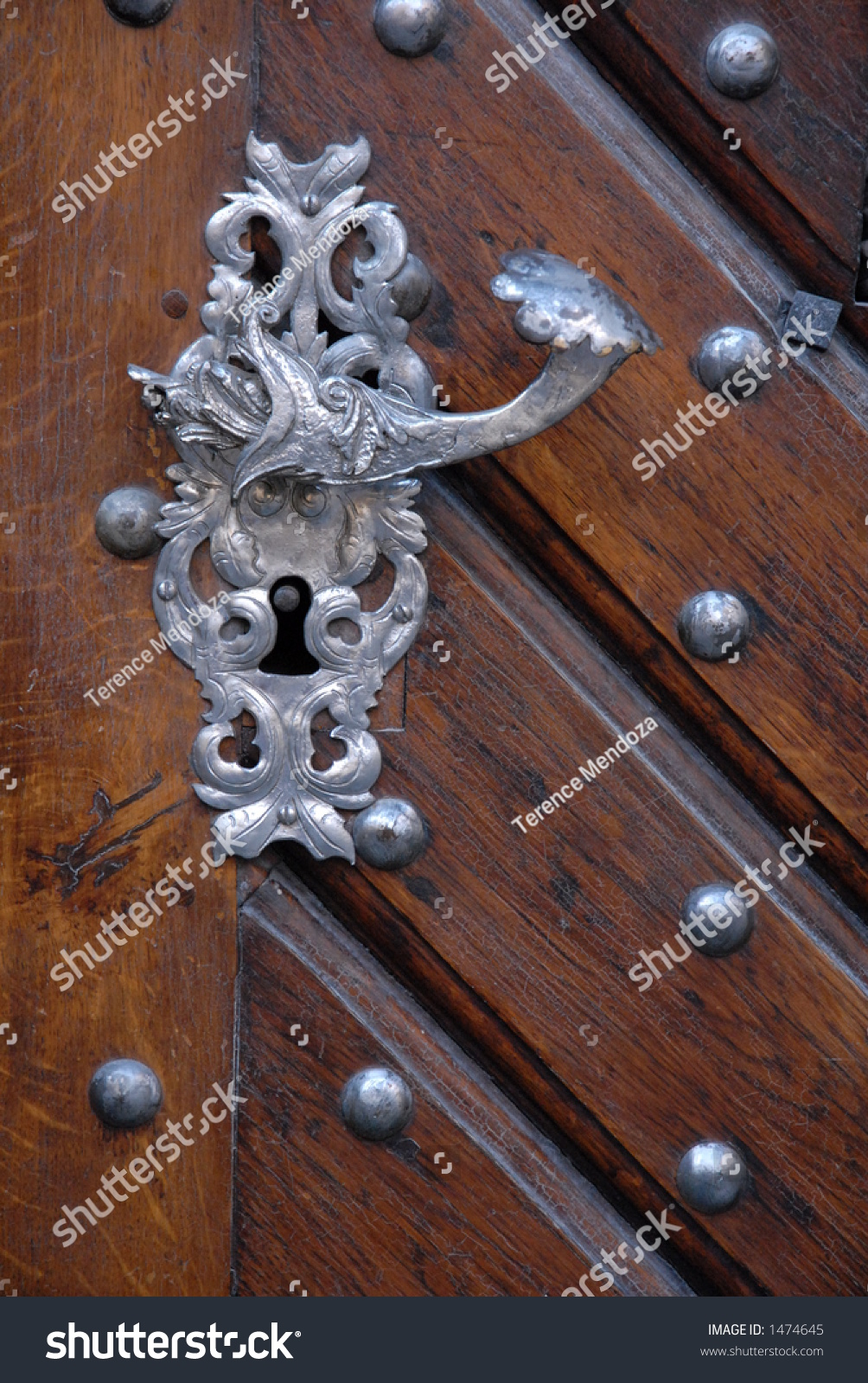 Gothic door handle prague stock photo 1474645 shutterstock for Door z prague
