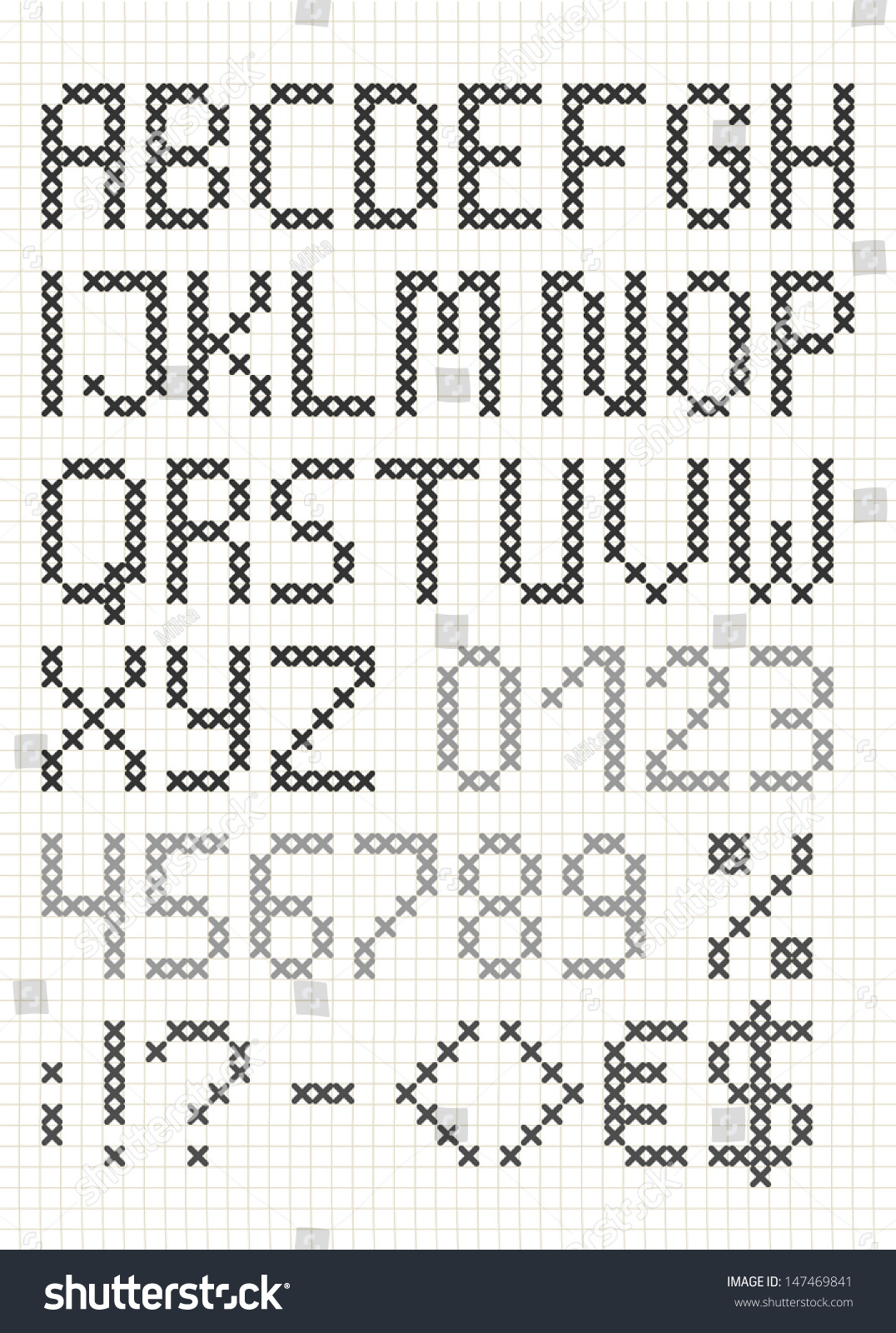 english letters and symbols stock vector cross stitch english alphabet with numbers and symbols upper