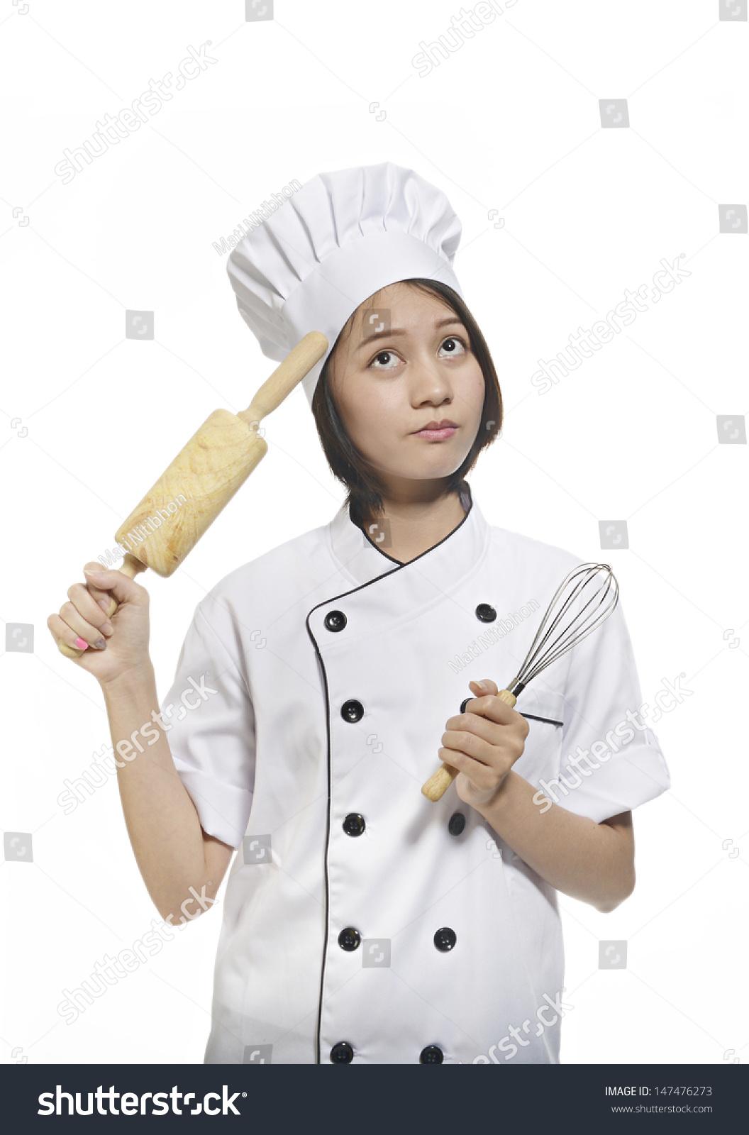Asian Amateur young female asian amateur chef stock photo (edit now) 147476273
