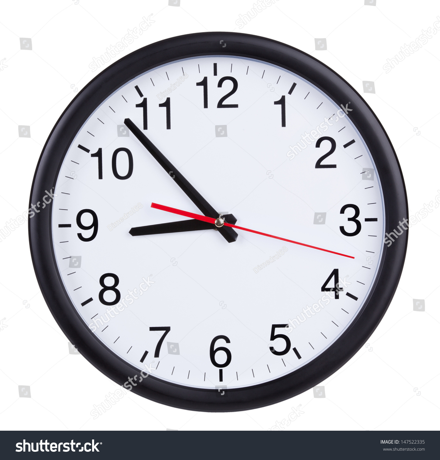 office wall clock. Exellent Office Round Office Wall Clock Shows Five To Nine On Office Wall Clock
