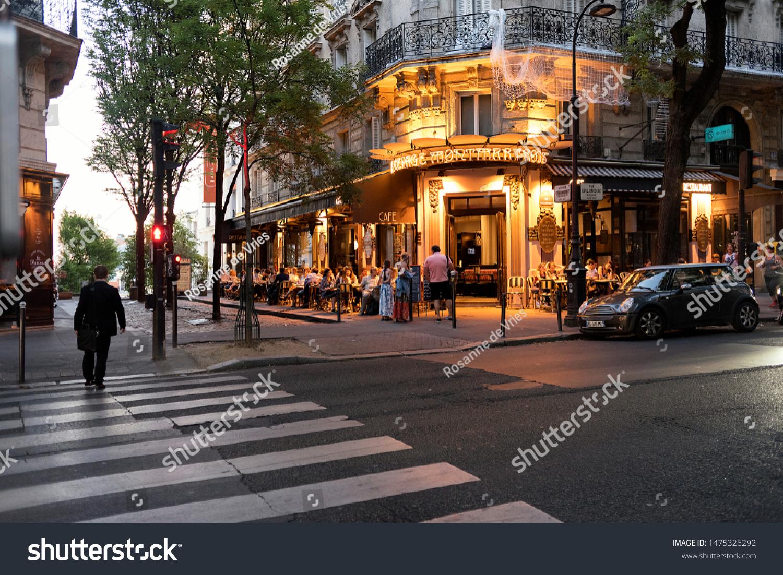 Paris France August 2019 Restaurant Romantic Stock Photo Edit Now 1475326292