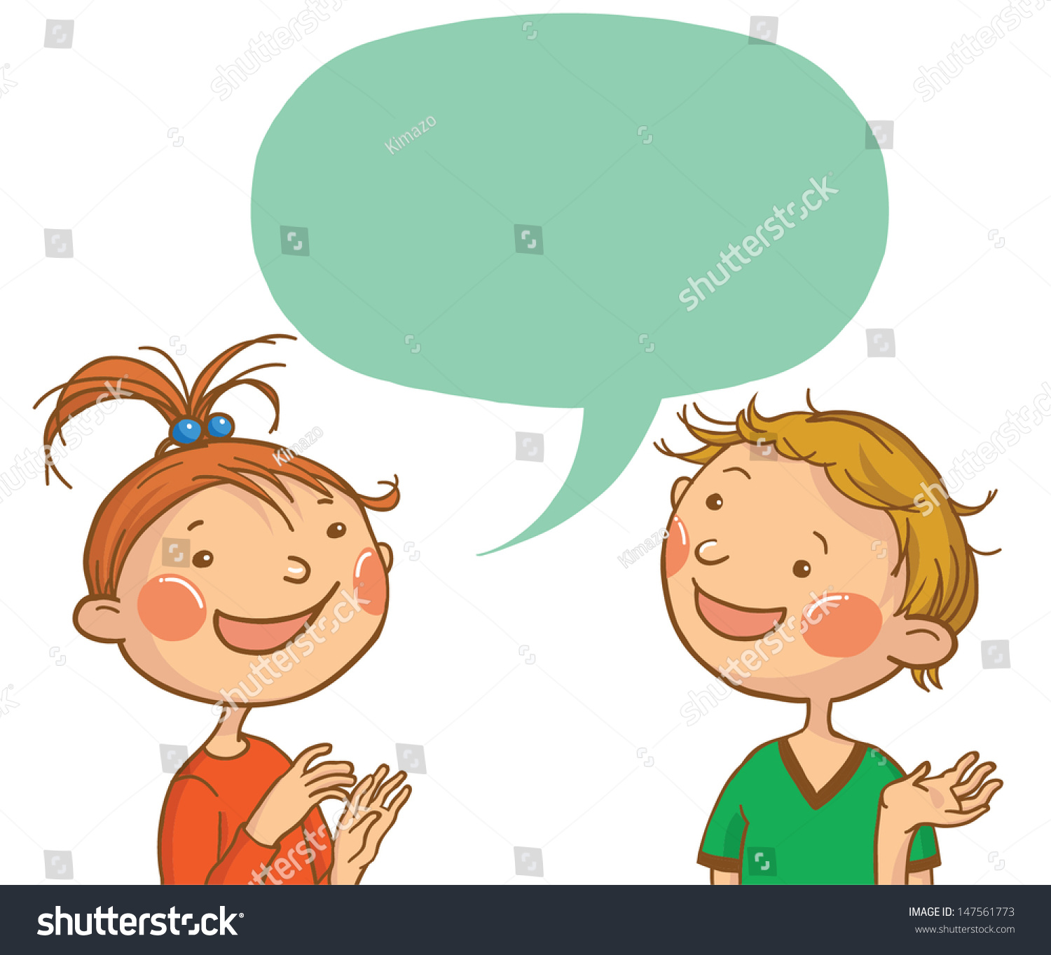 Kids Talking Clipart Black And White
