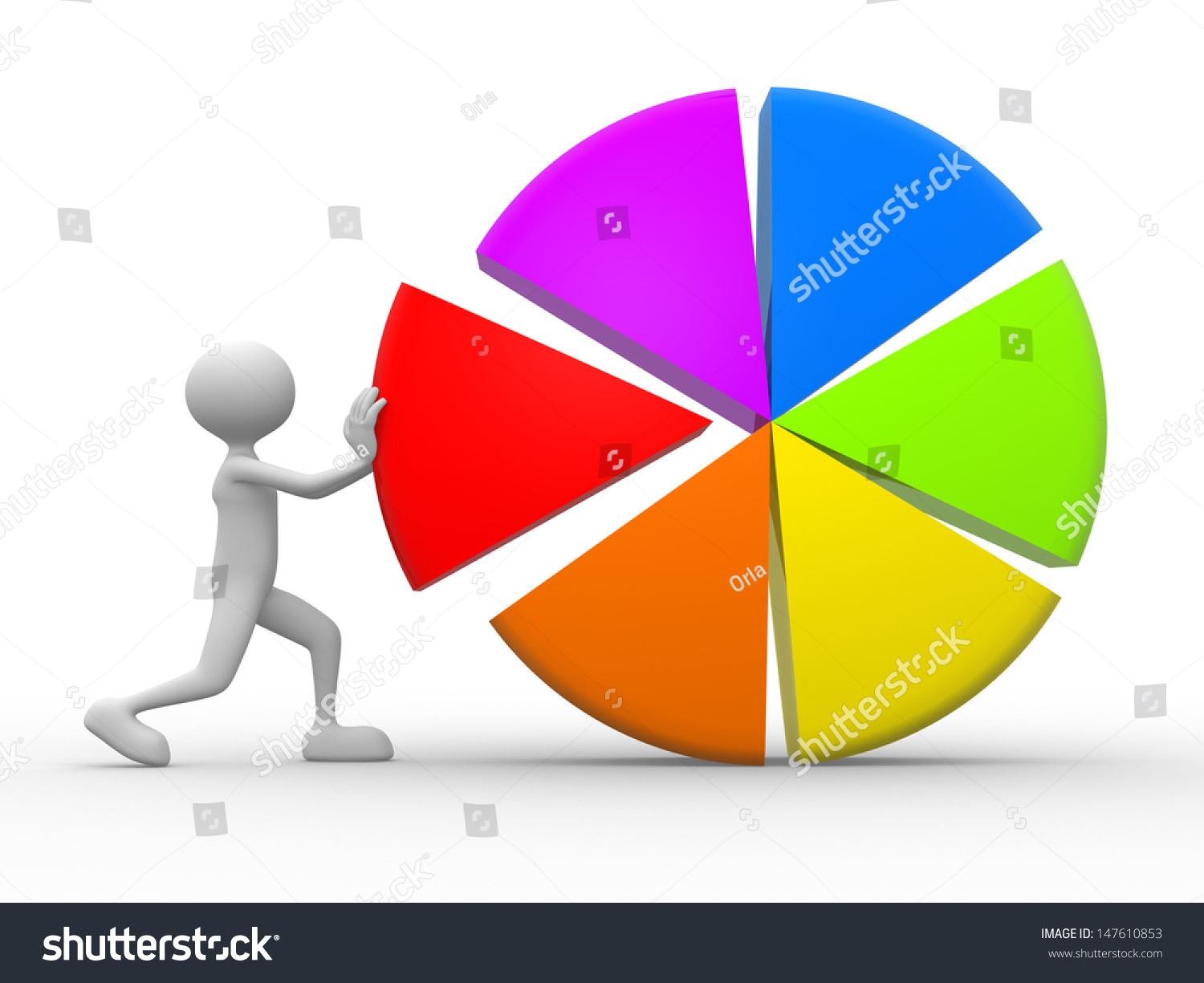3d people man pie chart stock illustration 147610853 shutterstock 3d people man and pie chart geenschuldenfo Image collections
