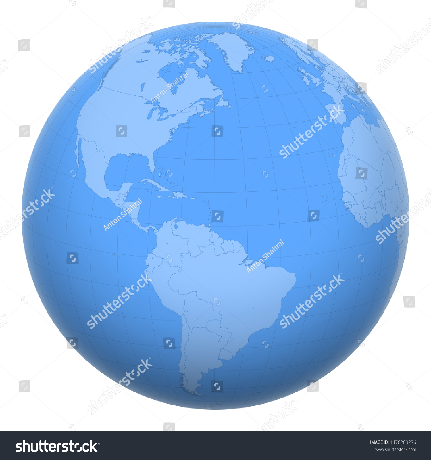 Picture of: Barbados On Globe Earth Centered Location Stock Vector Royalty Free 1476203276