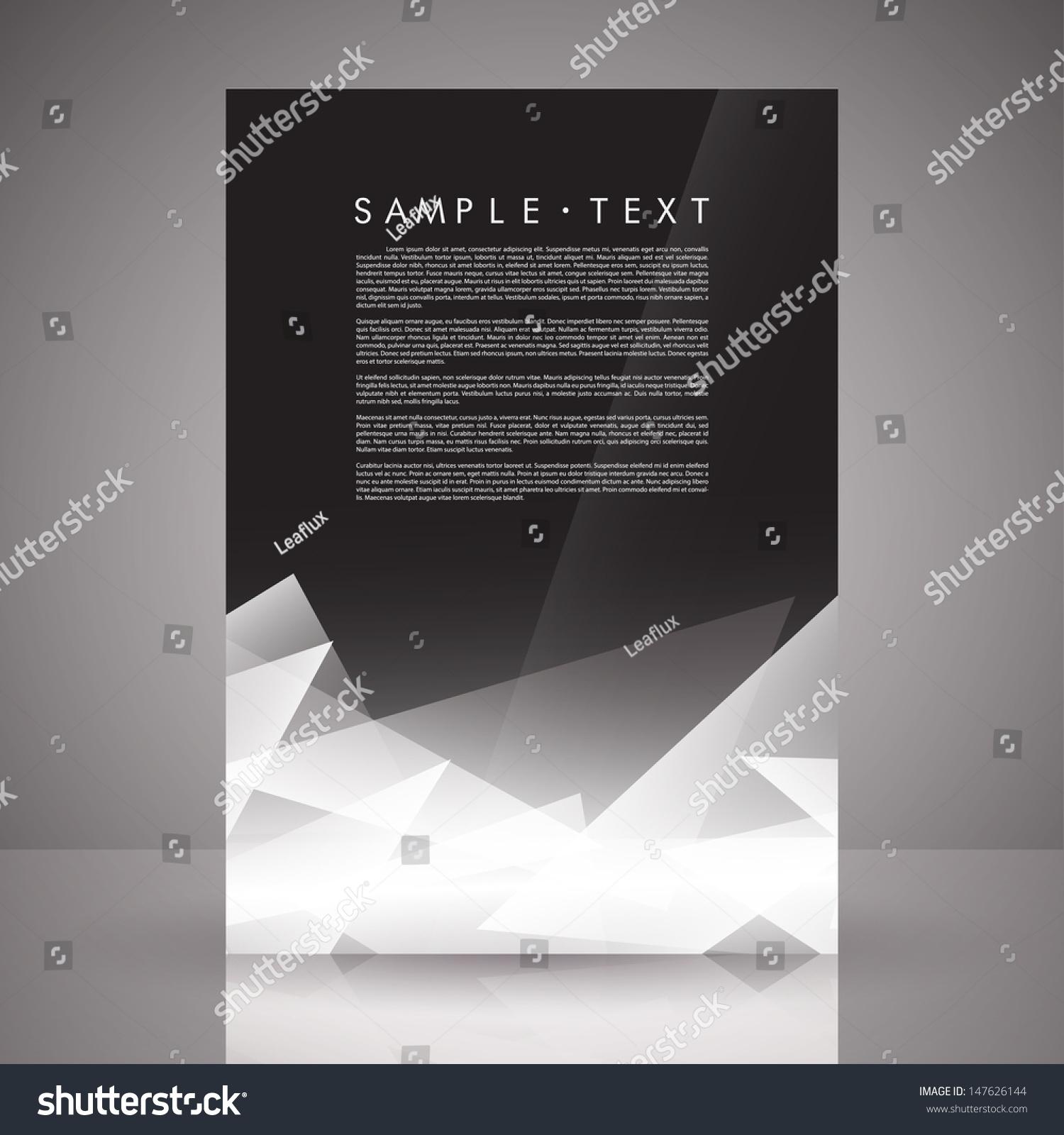 Elegant Black White Flyer Template Eps Stock Vector Royalty Free