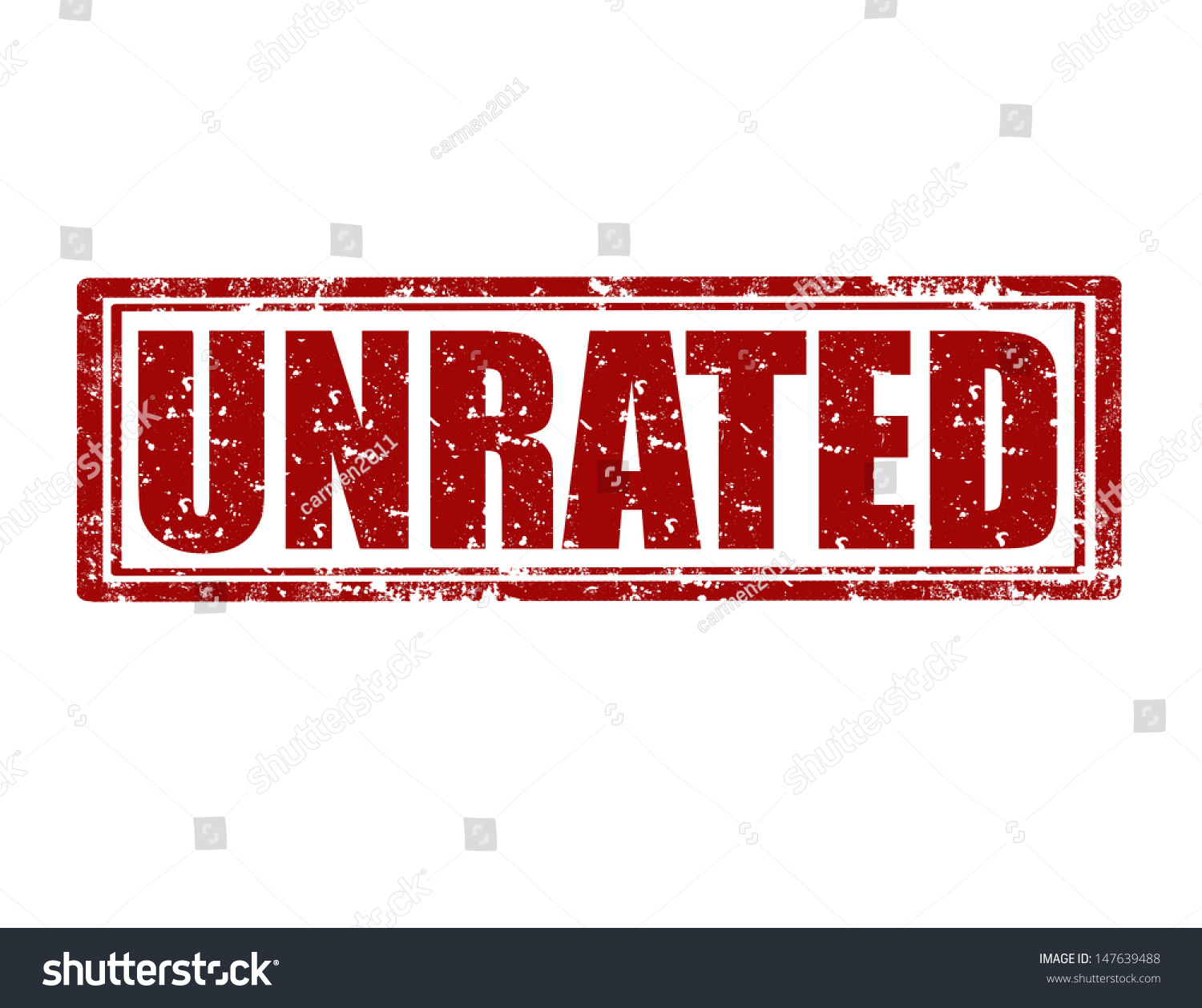 Grunge rubber stamp with word unrated inside vector for Inside unrated