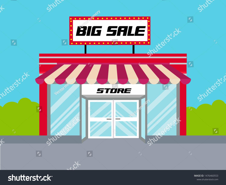 Big Red Store >> Red Store Design Color Geometric Shapes Arkistovektori