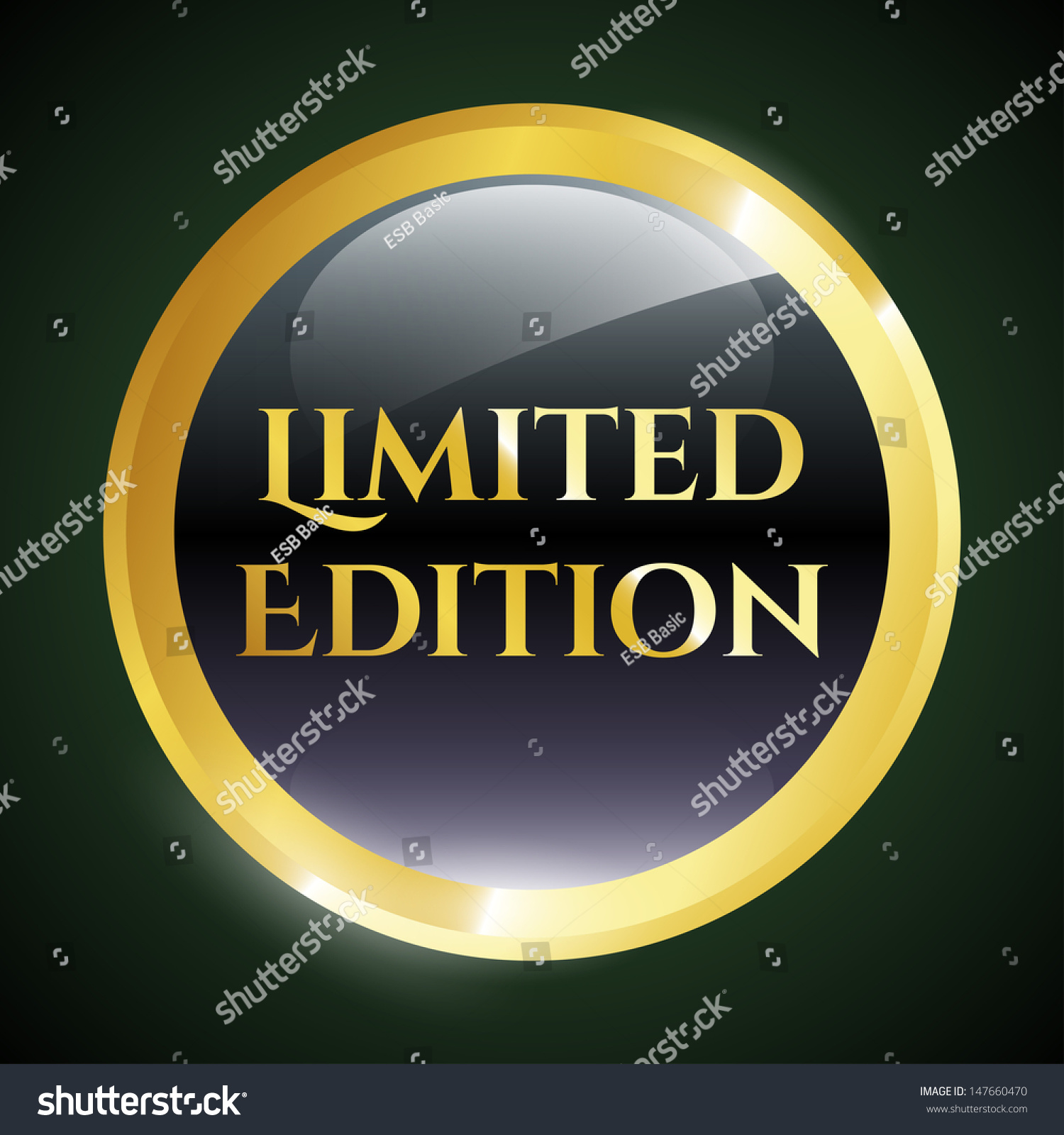Limited Edition Icon Stock Vector 147660470 - Shutterstock