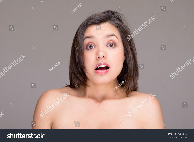 Girl has a hairy body