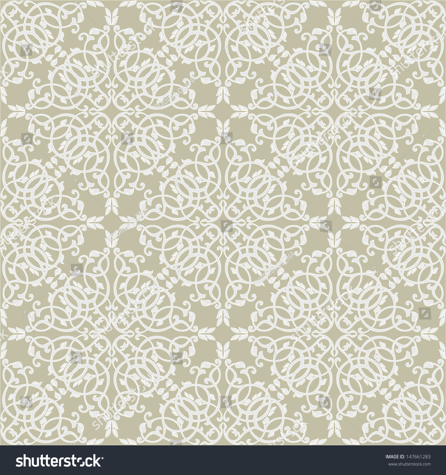 Damask floral pattern wallpaper baroque style stock vector for Baroque style wallpaper