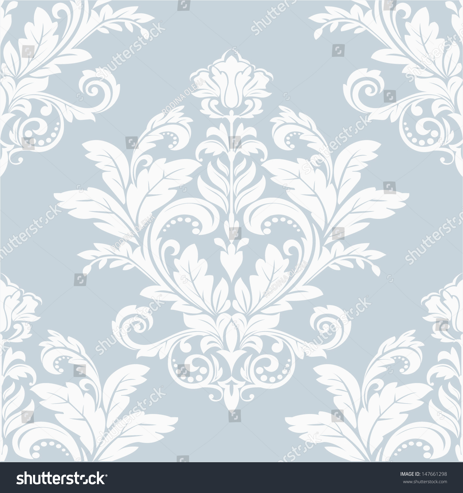 The Wallpaper In Baroque Style Seamless Vector Background