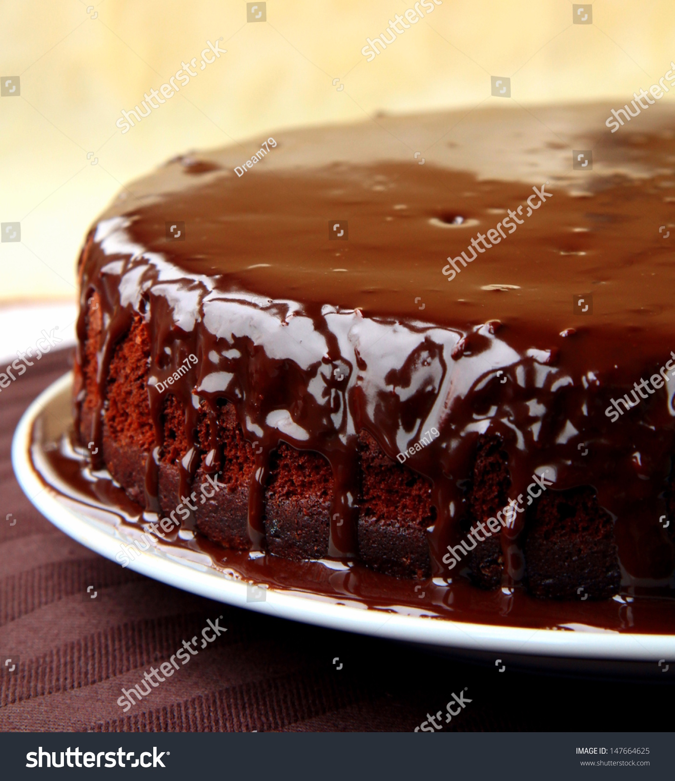 super chocolate cake with chocolate sauce #147664625