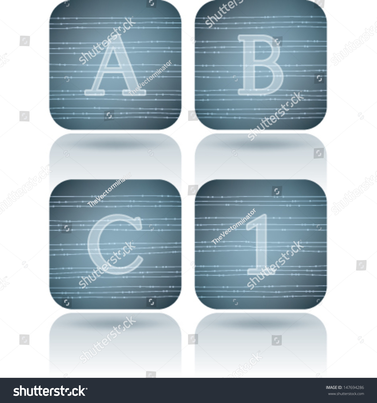 Custom made alphabet drawn from the scratch sans serif digits and capital letters icons