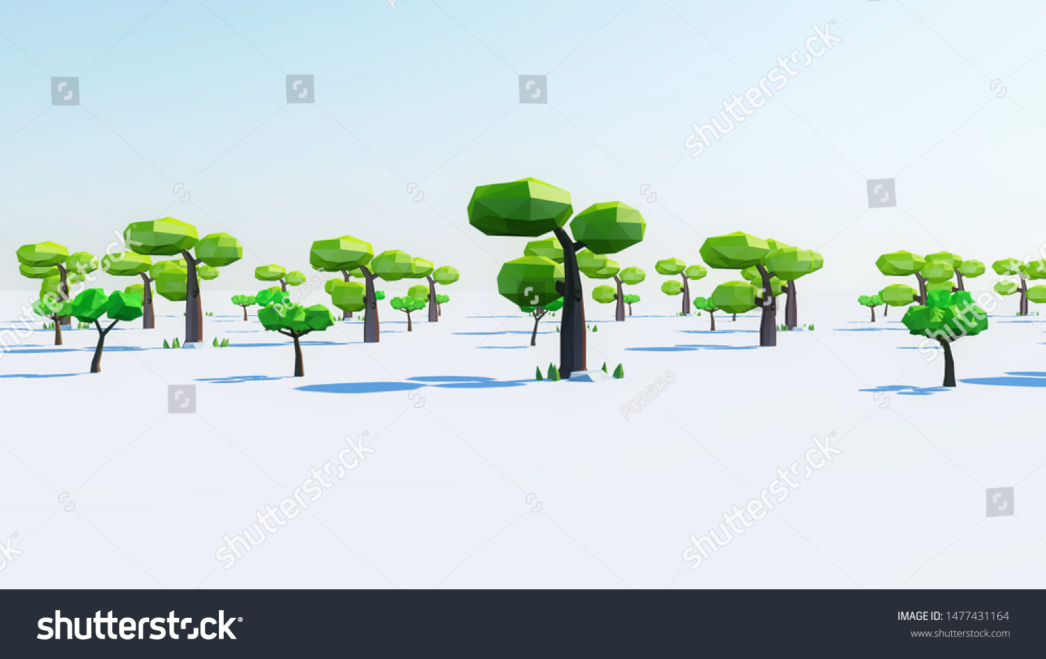 Lowpoly Cartoon Tree 3d Render Stock Illustration 1477431164 Free 3d model of cartoon tree id48722 for free download, files available in: shutterstock