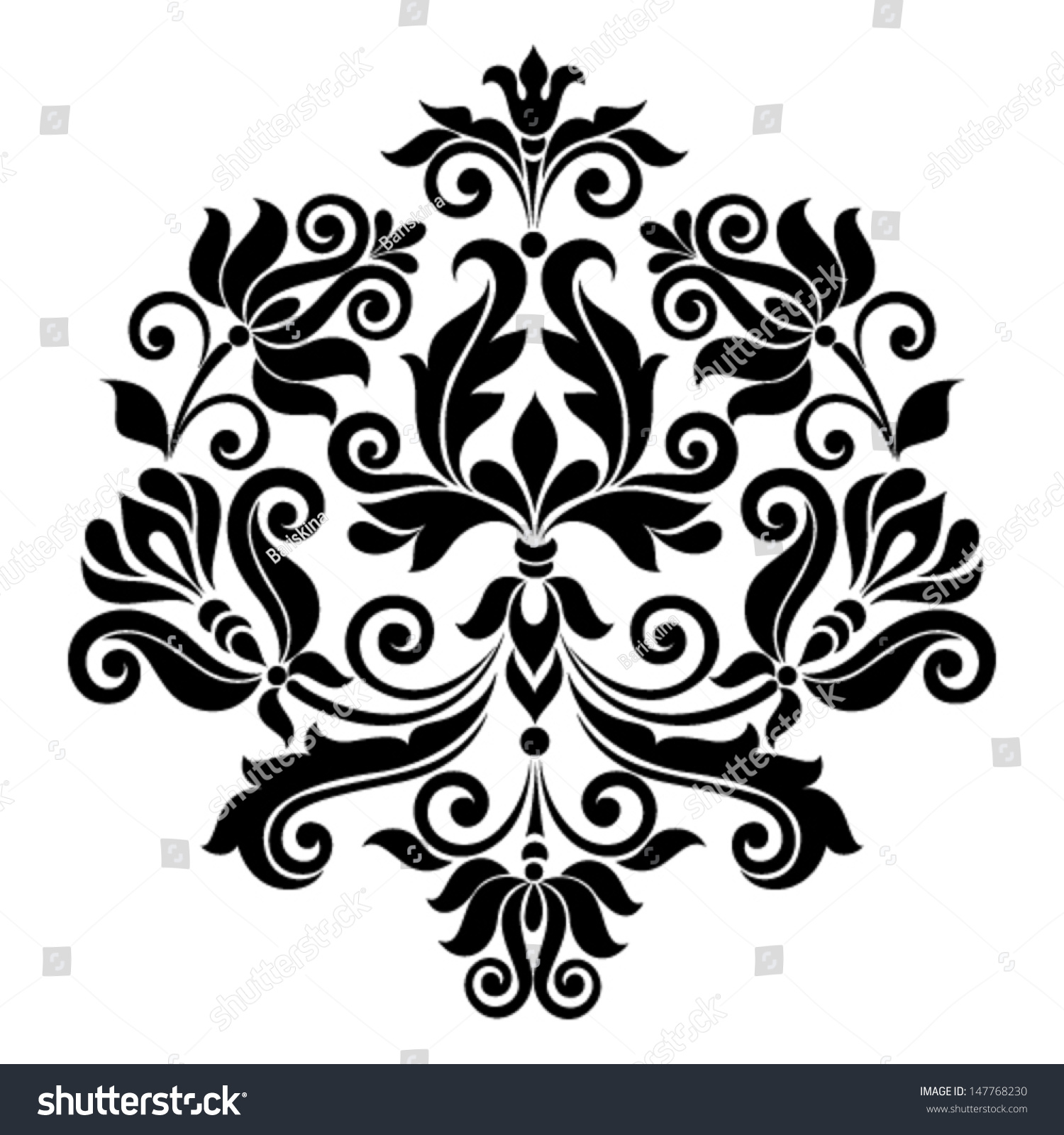 Vector ornamental floral element vintage style stock for Art for decoration and ornamentation