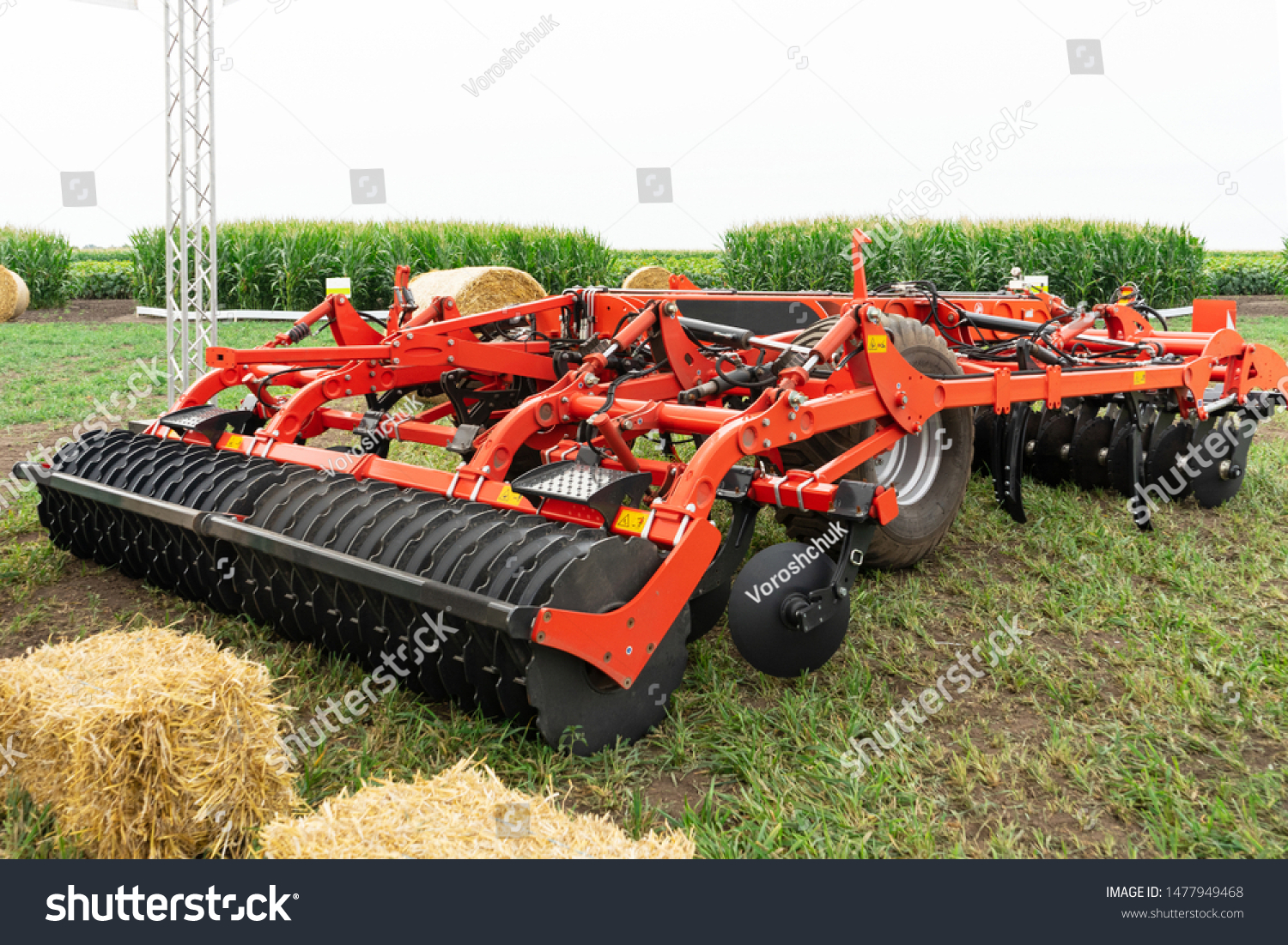 modern cultivator ready for field work #1477949468