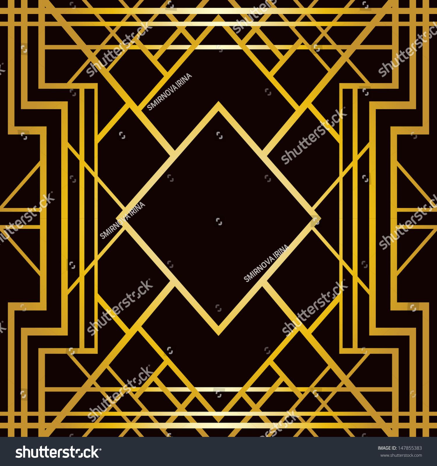 Art deco geometric pattern 1920s style stock vector for Art deco look