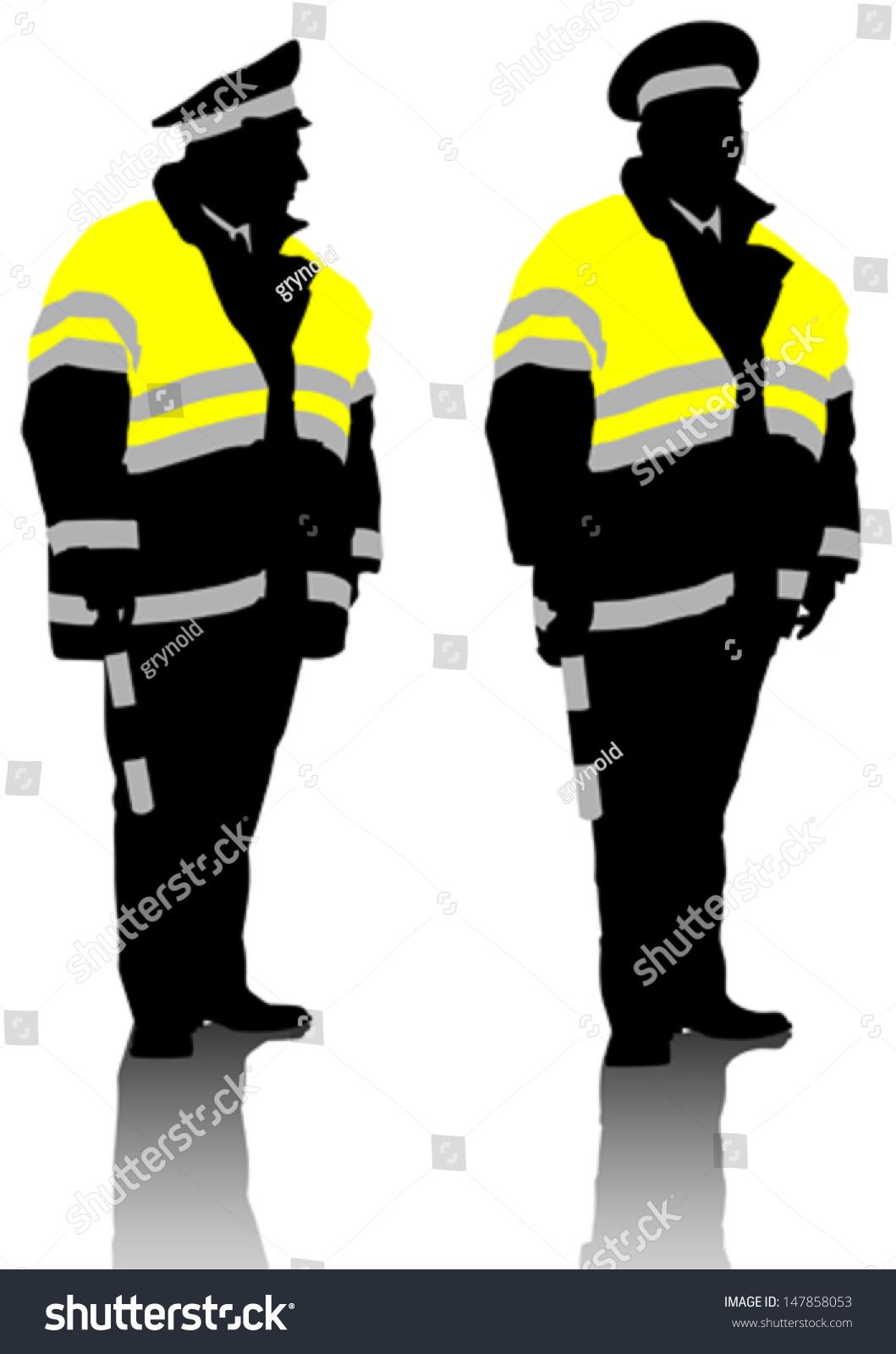 Vector Drawing Traffic Officer Uniform Property Stock Vector (2018 ...
