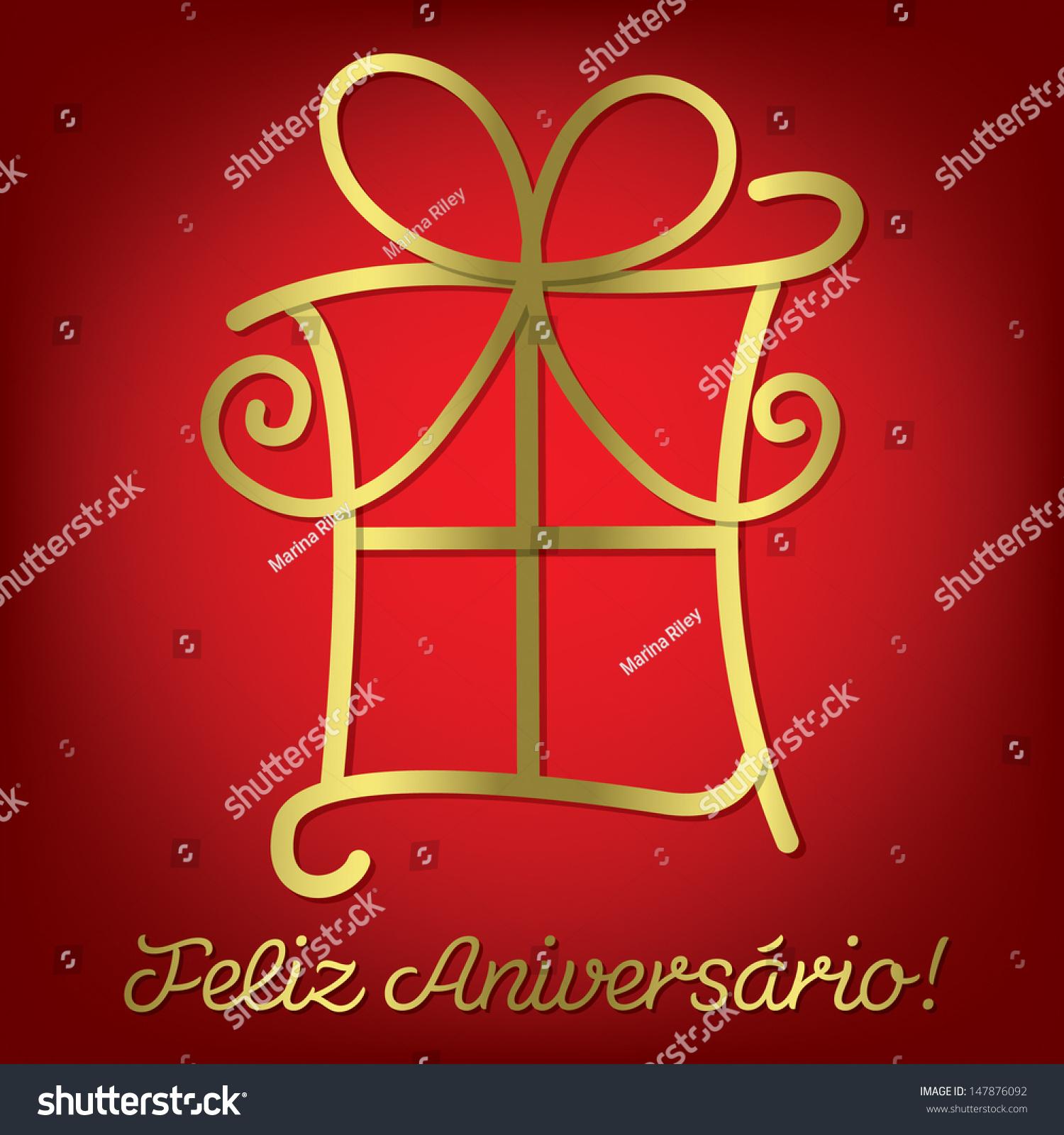 Bright Portuguese Happy Birthday Card Vector Vector – Portuguese Birthday Cards