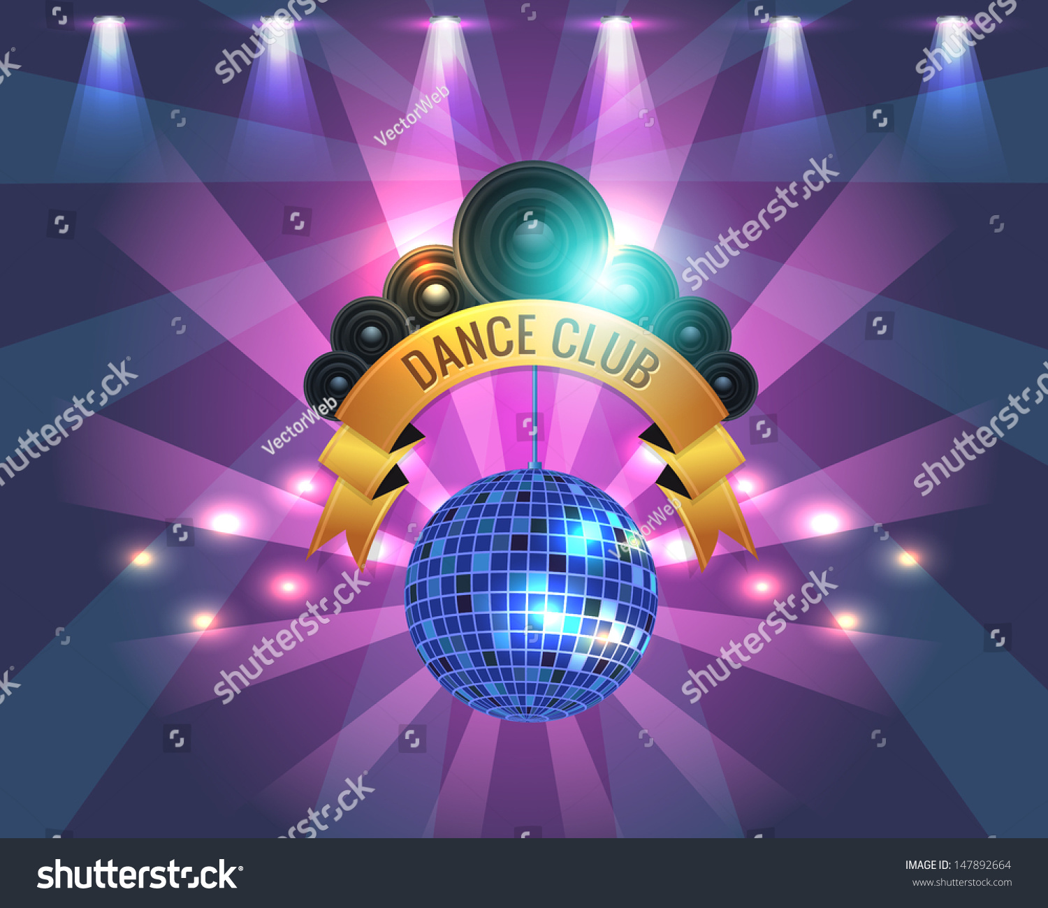 Dance Party Banner Background Flyer Templates Stock Vector Royalty Free 147892664