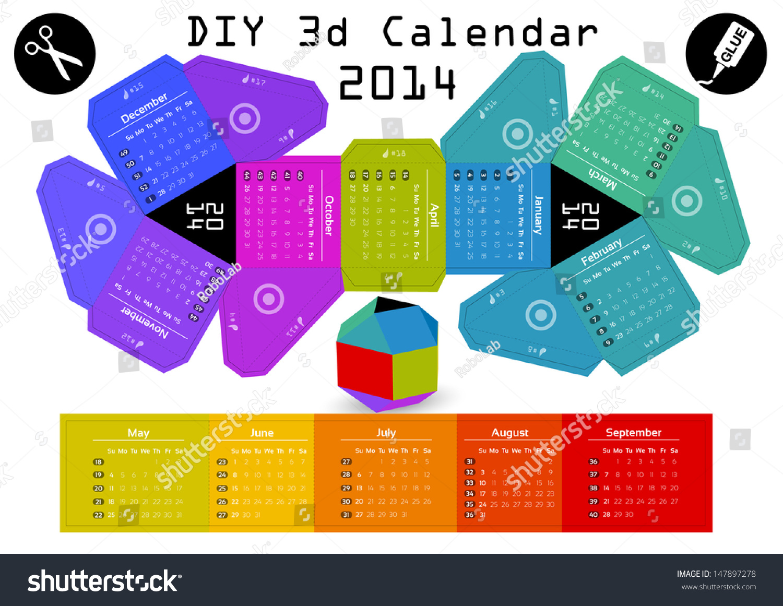 Diy Calendar Size : D diy calendar  ã Â inch compiled size