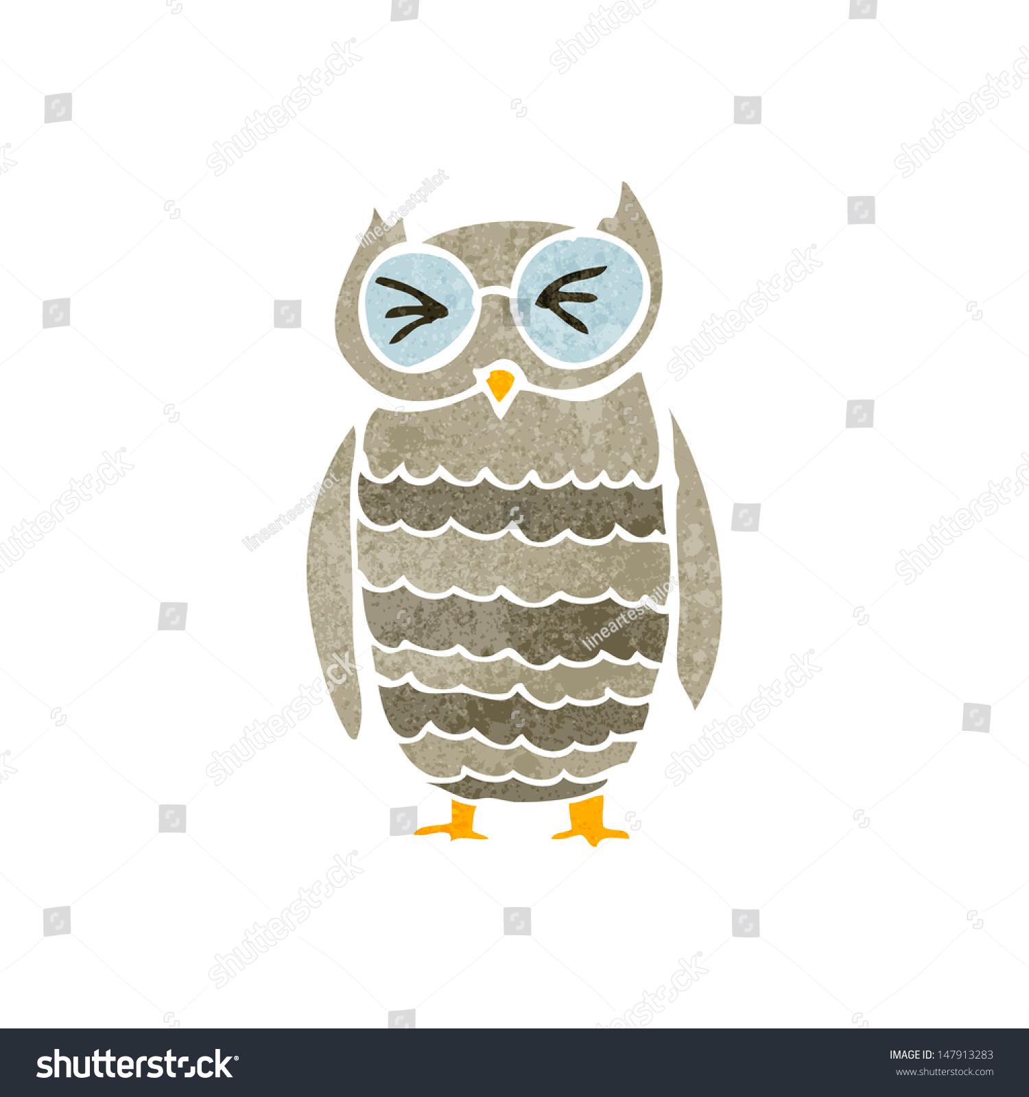 Retro owl cartoon - photo#3
