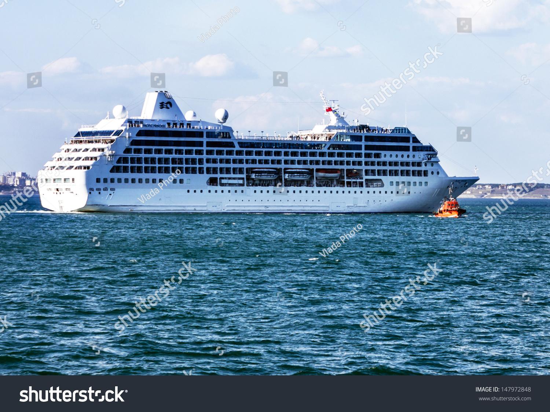 Cruise Ship Pacific Princess Came Into Stock Photo - Cruise ship pacific