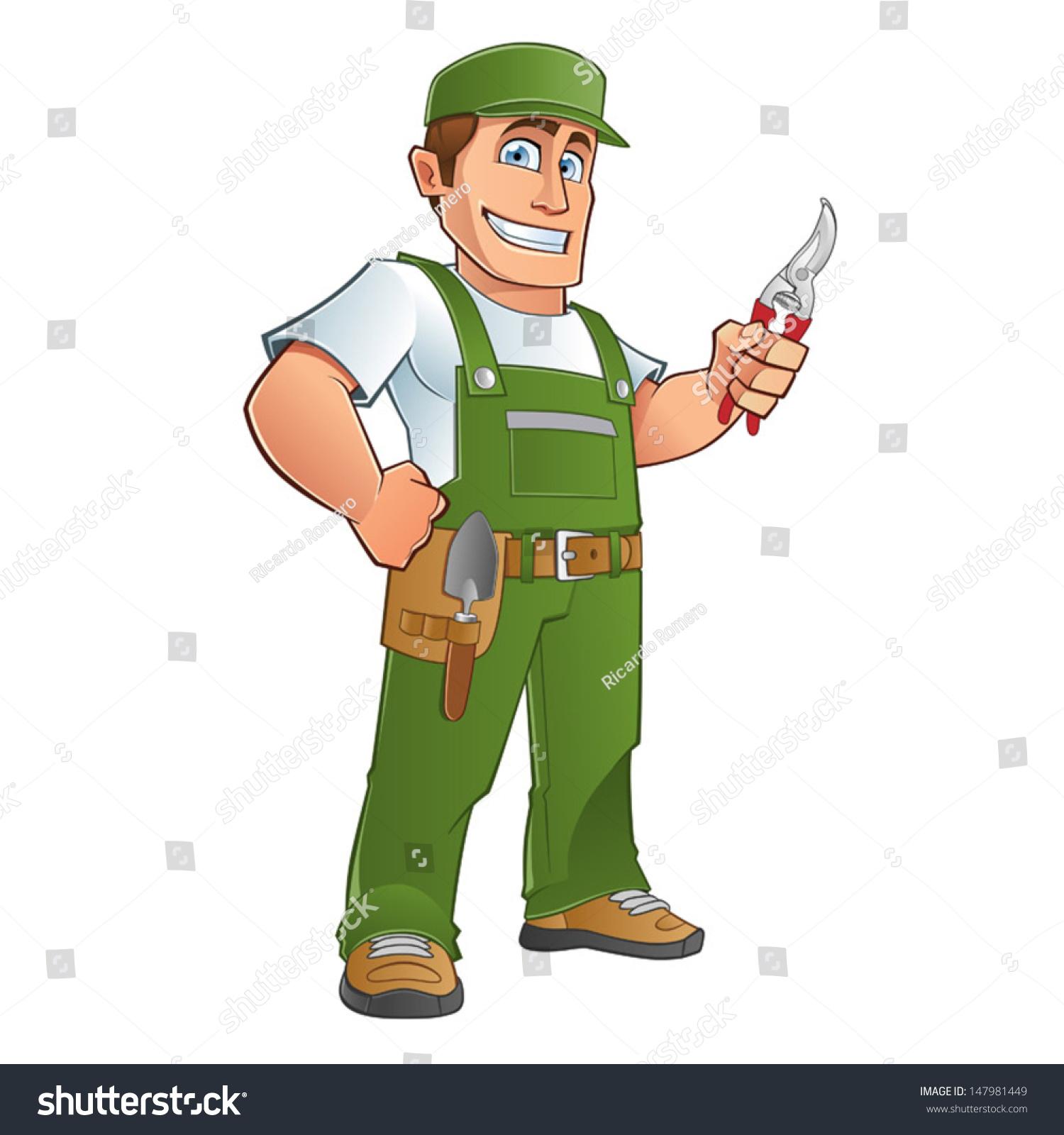 stock vector gardener