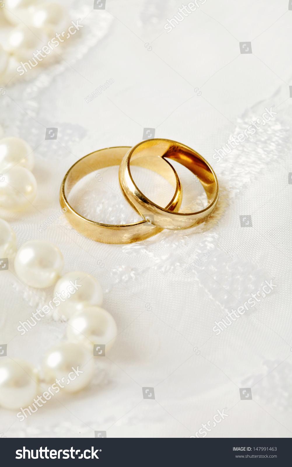 Two Wedding Rings Wedding Invitation Stock Photo (Royalty Free ...