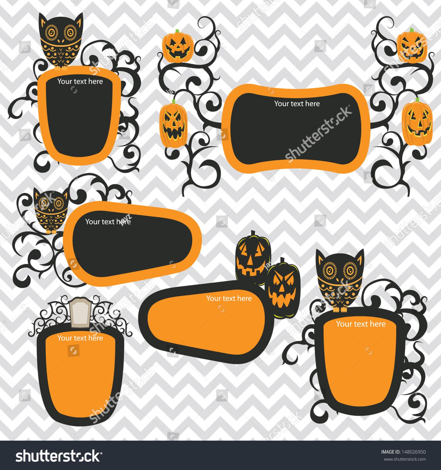 halloween frames stock vector (royalty free) 148026950 - shutterstock