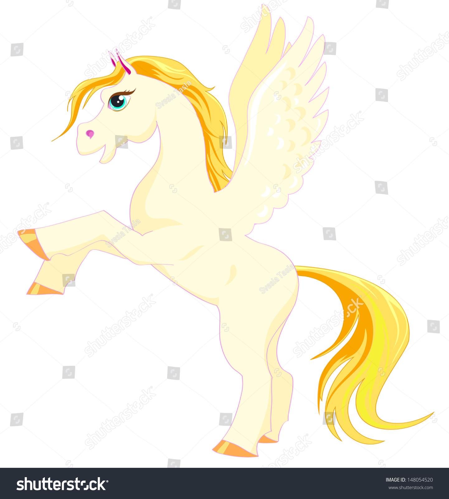 Vector De Stock Libre De Regalias Sobre Vector Pony Wings Little Fantasy White148054520