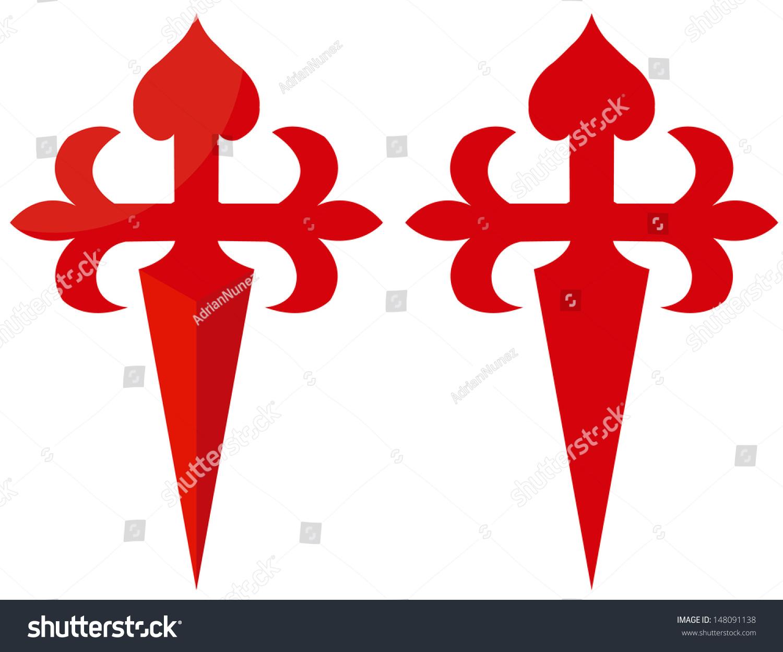 Red cross symbol camino de santiago stock vector 148091138 red cross symbol of camino de santiago biocorpaavc Images